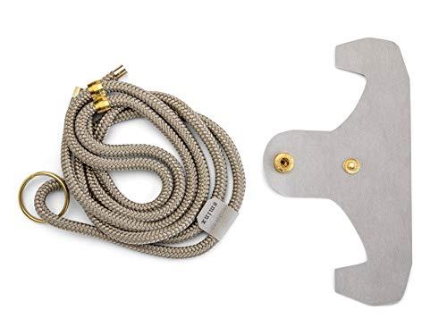 Modulor Sminx Smart Strings gsm-ketting, set van multiband en telefoon adapter, telefoonhouder om te hangen Made in Germany, smartphone-ketting met adapter voor alle maten, platina