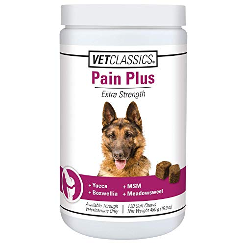 Vet Classics Pain Plus Extra Strength Health Supplement for Dogs - 120 Soft Chews