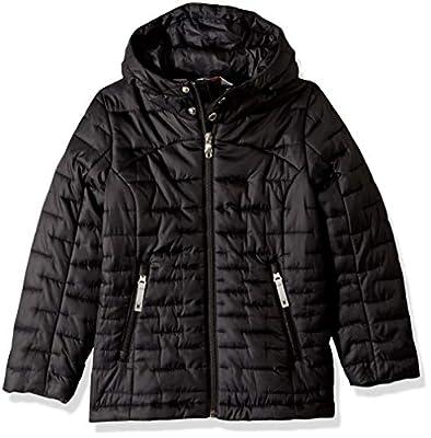 Spyder Girls' Edyn Hoody Insulated Jacket, Black/Black, Medium