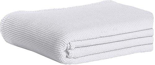 Dormisette 462879 Piqué Baumwolldecke, Baumwolle, weiß, 240x220x2 cm