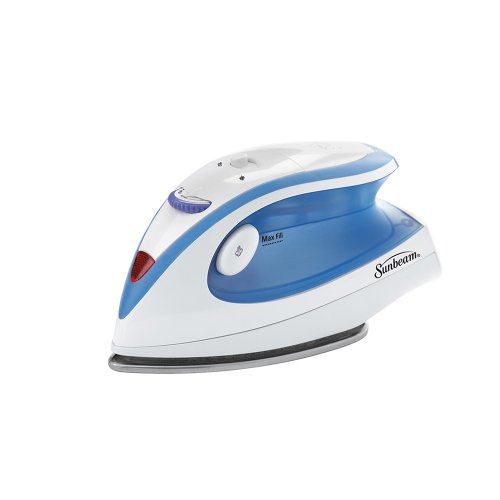 Sunbeam Hot-2-Trot 800 Watt Compact Non-Stick Soleplate Travel Iron, GCSBTR-100-000,Light Blue
