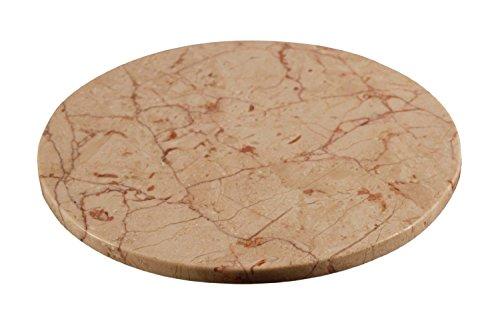 Yuchengstone Plat de service rond en marbre de 22 cm de diamètre (rose).