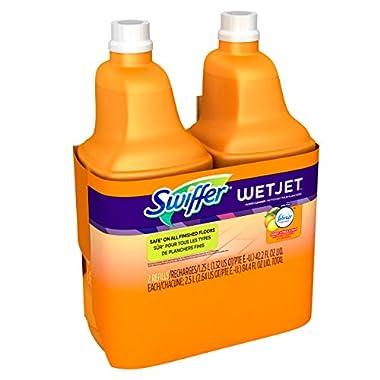 Swiffer WetJet Multi-Purpose Hardwood Cleaner and Floor Solution Refill, Wet Jet Refills in Sweet Citrus and Zest Scent, 1.25 Liter (2 Pack)