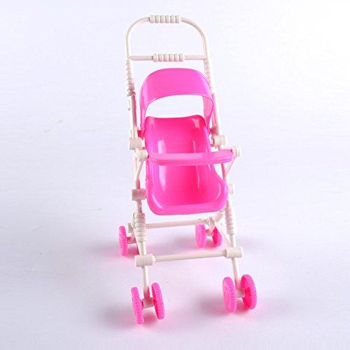 Zreal Kinder-Spielzeug-Puppenwagen aus Kunststoff für Mädchen, klassisches Spielzeug, Trolleys, Puppenzubehör