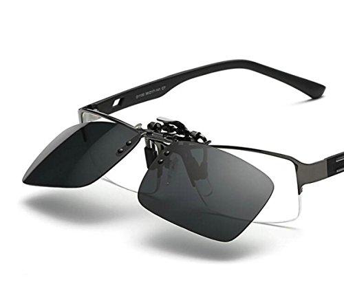 zmayastar ワンタッチ装着 日除け対策軽量デザインは クリップオン オーバーサングラス 偏光サングラス 偏光レンズ uvカット スポーツ ?を防ぐ 男女兼用 SH-YJ-003