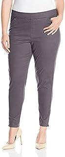LEE Women's Plus Size Modern Series Midrise Fit Annika Tapered Leg Pant, Iron, 16W/Medium