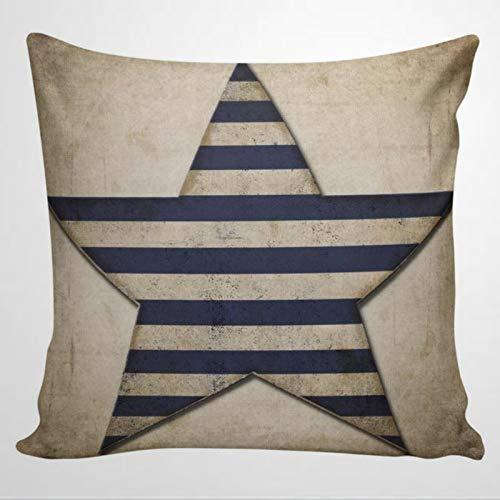 Federa per cuscino in stile francese con stella americana patriottica, stile coloniale, stile francese, design Heath, per interni camera da letto, divano, soggiorno, auto.
