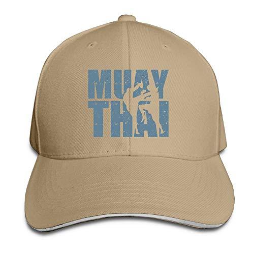 Vidmkeo Men's Women's Muay Thai Box Cotton Adjustable Peaked Baseball Cap Adult Sandwich Hat Multicolor61