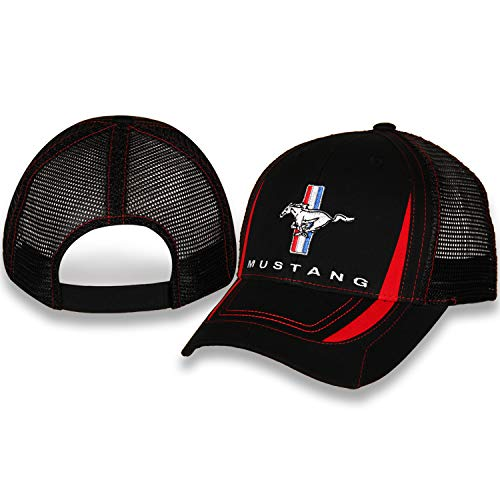 Ford Mustang Black Hat/Cap with Mesh Back and Adjustable Closure