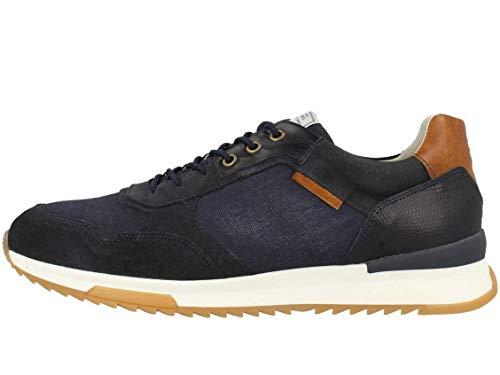 BULLBOXER Herren Low-Top Sneaker, Männer Halbschuhe,straßenschuhe,Freizeitschuhe,Men's,Men,Man,schnürschuhe,schnürer,Blau (Navy),44 EU / 9.5 UK