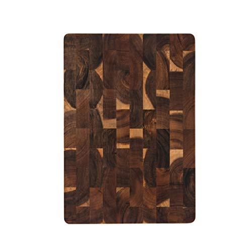 Tablas Para Picar Tabla de cortar el extremo rectangular del grano del bloque de carnicero de cocina Tablas de cortar de madera de acacia Plaza charcutería Junta |Tabla de quesos ( Size : 36*25cm )
