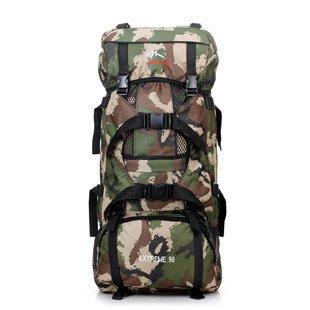 XIE@ All'aperto alpinismo borsa moda 90L impermeabile e resistente all'usura traspirante casual zaino zaino Camo , camouflage khaki