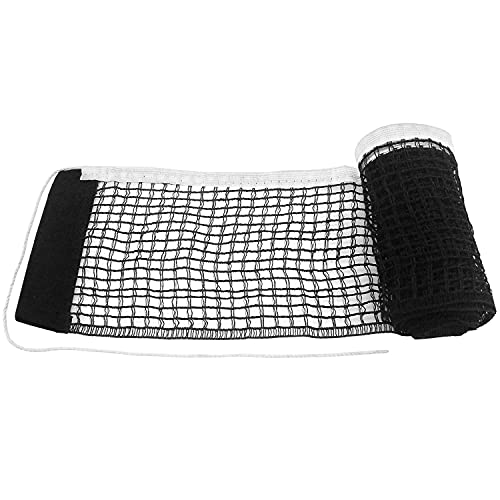 Prmape 2 Pcs Table Tennis Replacement Net, Portable Ping Pong Net, Professional Table Tennis Nets for Ping Pong Table Office Desk or Dining Table Indoor Outdoor Supplies