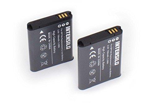 INTENSILO 2 x Li-Ion batería 700mAh (3.6V) para cámara videocámara Samsung DV180F, ES65, ES70, ES71, ES73, ES74, ES75, ES78, ES80 por BP70a.