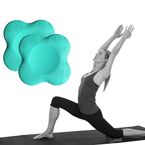 Yoga Knee Pad Cushion Extra Thick for Knees Elbows Wrist Hands Head Foam Yoga Pilates Work Out Kneeling pad (Turquoise 2packs)