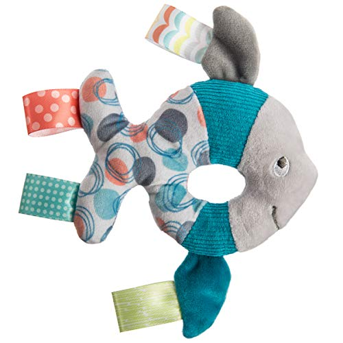 Taggies Soft Ring Baby Rattle 6quot Sleepy Seas