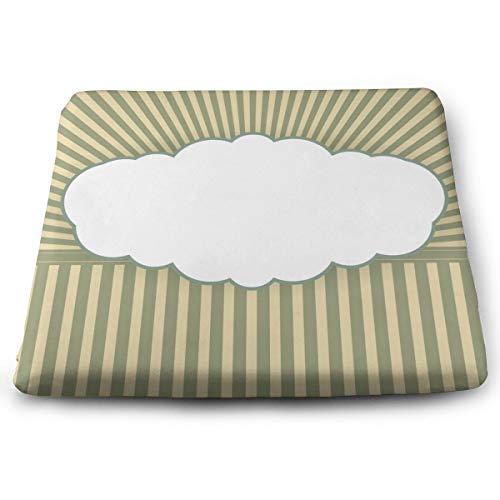 Houity A Cloud Vector Image - Cojín cuadrado de poliéster 100% con núcleo de almohada, cojín para silla, diseño de tatami