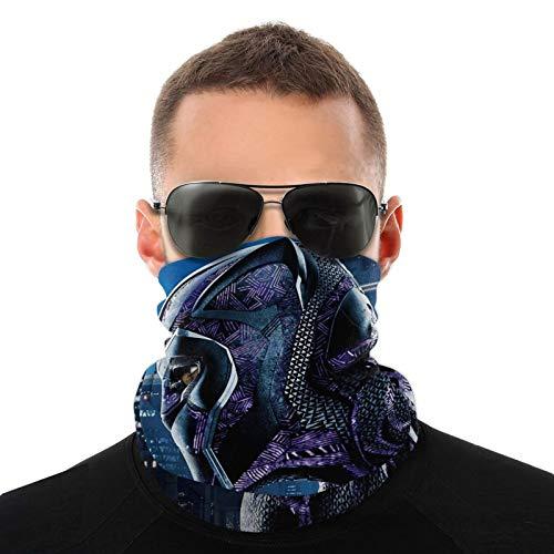 Funda protectora para cuello de Pantera Negra, reutilizable, de tela, lavable, proteccin contra el polvo, pasamontaas