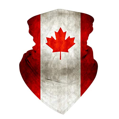 KESYOO Kanada Flagge Bandana Fanschal Schlauchschal UV Staubschutz Schlauchtuch Halstuch Motorradschal für Outdoor Radfahren Laufen Sport Party Dekoration Gastgeschenke