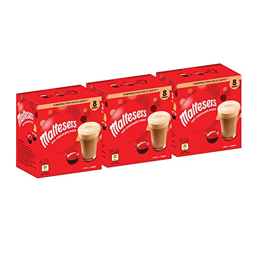 Maltesers Cápsulas de chocolate caliente compatibles con Dolce Gusto – Caja a granel con 24 cápsulas