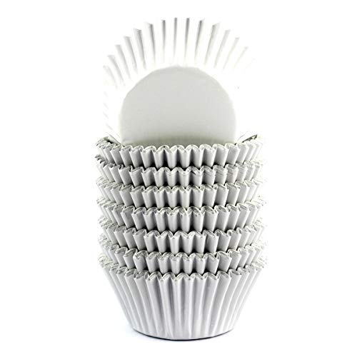 Mkustar 200 Count Foil Cupcake Liners Standard Paper Baking Cups White
