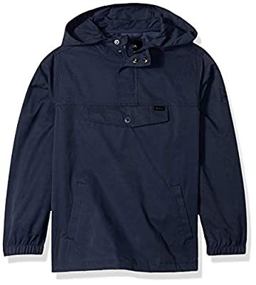 RVCA Boys' On Point Packable Anorak Jacket Blue L/14