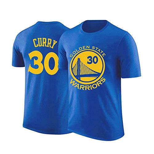 HEJX Golden State Warriors equipo de baloncesto Curry 30 camiseta de manga corta camiseta de baloncesto de manga corta para hombres y mujeres.