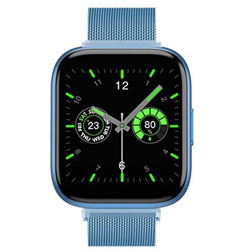 ZHEBEI Reloj inteligente Bluetooth para mujer, pulsera conectada, resistente al agua, rastreador de fitness, recordatorio de llamadas, pulsera deportiva BlueSteel