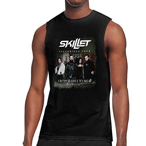 Tengyuntong Camisetas y Tops Hombre Polos y Camisas, Skillet Band sin Mangas para Hombre de Verano con Cuello Redondo Camiseta sin Mangas con Chaleco musculoso