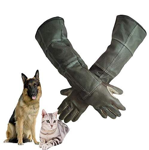 YUQIN Pet Handschoenen Handschoenen Anti Bite Beschermende Handschoenen Lange Dikke Lederen Handschoenen Dierlijke Handschoenen Kat Hond Vogel Papegaai Lizard, Anti-bite/Scratch Tuinieren Wildlife Protection Handschoenen