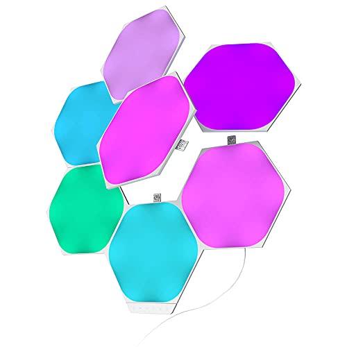 Nanoleaf Shapes Hexagons Smarter Kit with 7x Multicolor Hexagon Light Panels, 100 Lumens