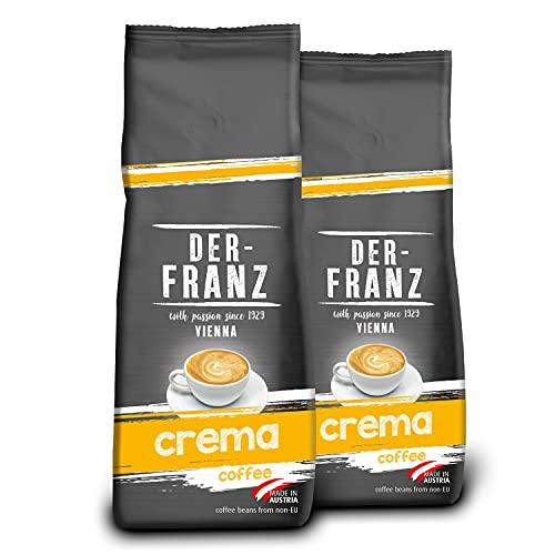 Der-Franz Crema-Kaffee UTZ, gemahlen, 2x500g