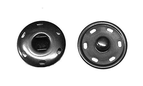 Großhandel für Schneiderbedarf 5 Druckknöpfe zum Annähen Metall schwarz 30 mm