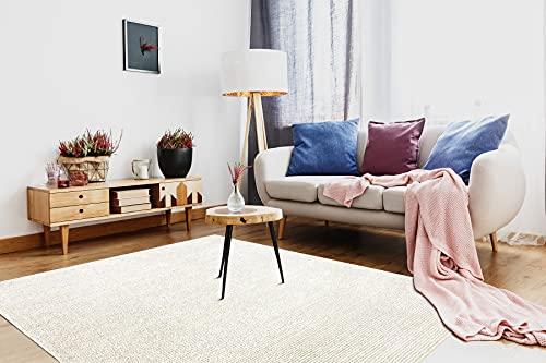 Tapis Pure Lignes Convient à Tous Les intérieurs, pour la Chambre à Coucher, Le Salon, crème 120x160 cm