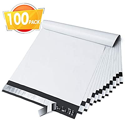 Fuxury 10x13 Inches 100pc White Poly Mailers Shipping Envelops Self Sealing Envelopes Boutique Custom Bags Enhanced Durability Multipurpose Envelopes Keep Items Safe Protected
