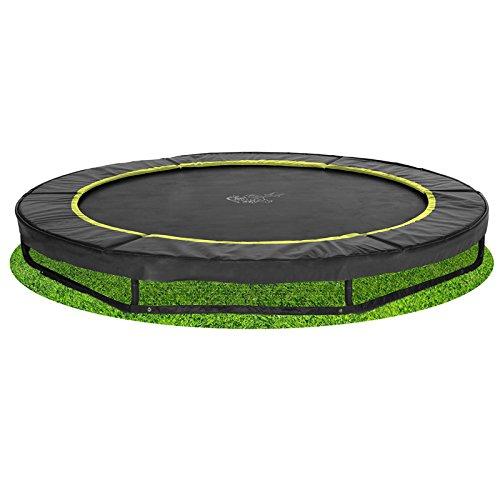 Bodentrampolin Magic Circle Pro Black 366 cm...