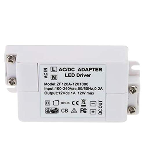 Busirde 12W LED Driver Transformer Striscia di Illuminazione a LED MR16 / MR11 240V 50 / 60Hz a DC 12V elettronico LED Converter