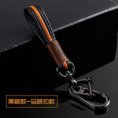 XUWLM Schlüsselanhänger für Autoschlüsseletui für BMW 520 525 f30 f10 F18 118i 320i 1 3 5 7 Serie X3 X4 M3 M4 M5 Auto Styling Weiche TPU-Schutz-Schlüsselschale, Brauner Schlüsselbund
