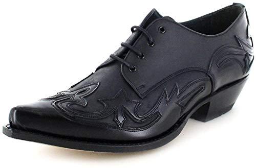 Sendra Boots Stiefel 10066 Schwarz Westernschuh Schnürschuh