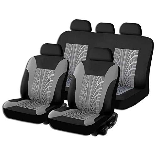 JDWBT Sitzbezüge Auto Universal,Schonbezüge für Vordersitze und Rückbank,Komplettset Autositzbezüge Set,Sitzbezug Schoner 5-Sitze (Grau 5 Sitz)