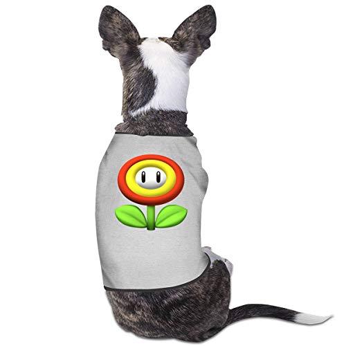 Jiaojiaozhe Super Mario Bros Huisdier Service Huisdier Kleding Grappige Hond Kat Kostuum Tshirt Hemel Blauw, S, Grijs