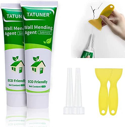 TATUNER Wandreparatur Creme,fertige Spachtelmasse für Wand reparieren, Mit Reparatur spachtel,spachtelmasse weiß innen,Reparatur löcher für Wände, Rissen, Peeling, Graffiti