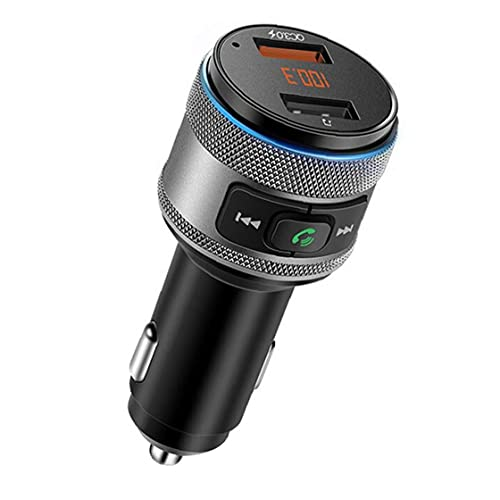 RRunzfon Transmisor de Bluetooth FM de Radio sin Hilos del Coche Reproductor de mp3 del Coche C57 Adpater de Carga rápida en Muchos aspectos, Buenos Accesorios rentables y Piezas