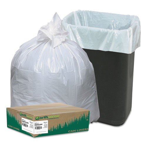 Earthsense Recycled Tall .7 Mil Kitchen Bags, 13 Gallon Capacity, 150 Bags Per Box - White