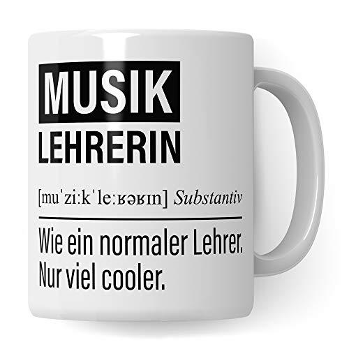 Musiklehrerin Tasse, Geschenk für Musik Lehrerin, Kaffeetasse Geschenkidee Lehrerin, Kaffeebecher Lehramt Schule Musik Unterricht Witz