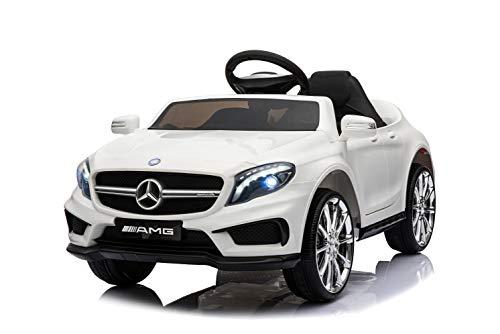 Kaufexpress Mercedes Benz GLA 45 AMG Kinderelektroauto Elektrofahrzeug Kinderfahrzeug 12V Fernbedienung USB MP3 Anschluss in Weiß