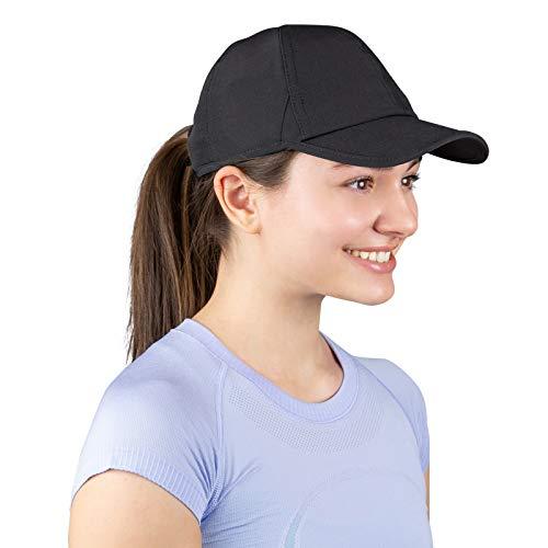 TrailHeads Laufkappe mit UV-Schutz | Kappe Damen | Damen Cap |Schirmmütze Damen - Schwarz