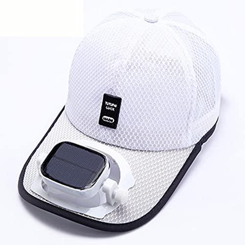 Cappellino da baseball da uomo con ventilatore solare, protezione UV estivo largo cappello da sole...