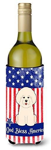 Caroline tesoros del bb3070literk patriótica Estados Unidos Bichon Frise vino botella aislante beverge Hugger, para botella de vino, multicolor