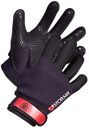 Stormr Strykr 2mm Neoprene Mens and Womens Glove - Fully Lined Micro-Fleece Gloves with Adjustable Wrist Closures - Ideal for Ice Fishing, Winter Conditions, and Foul Weather, L